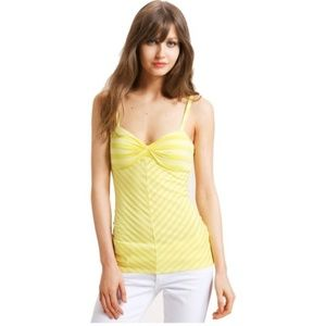 Ella Moss (Anthro.) • NWT Yellow Striped Tank